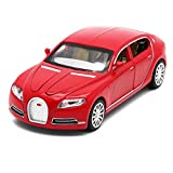 Red Car Bugatti Sport Toys Boys Auto Model 6 Doors Ull-back Power, Sounds And Led Light Collection Kids Vehicle