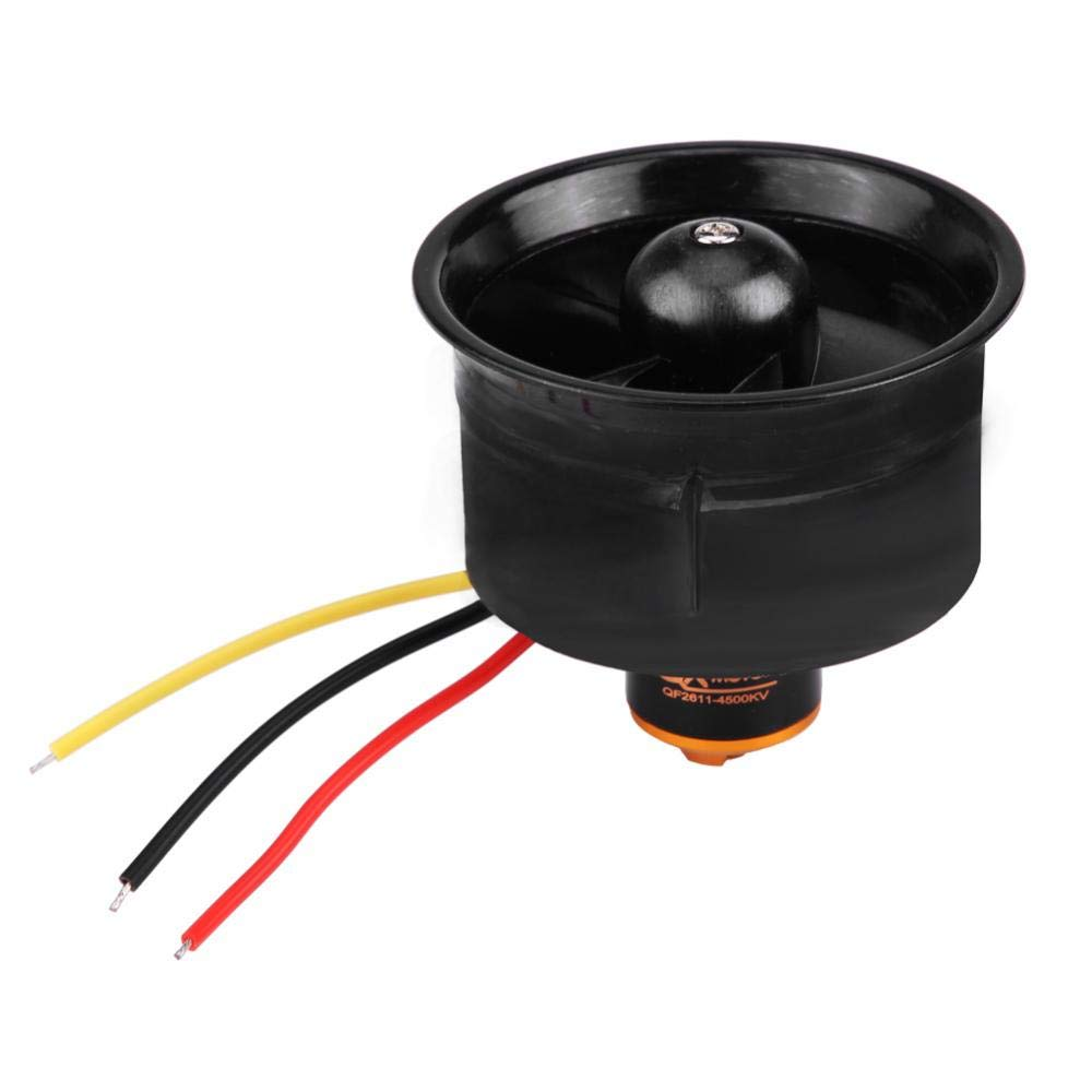 RC Airplane Motor, 64 Ducts 4500KV Brushless Motor + Propeller Power Kit up to 1200g RC Model Airplanes