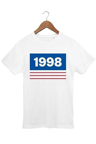 c1f7a8cc1c93 Le T-shirt Foot T-Shirt Homme Foot Equipe de France 98 - Coton 100 ...