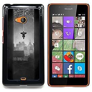 - Spider Hero Comic Character Grey Web/ Duro Snap en el tel????fono celular de la cubierta - Cao - For Microsoft Nokia Lumia 540 N540