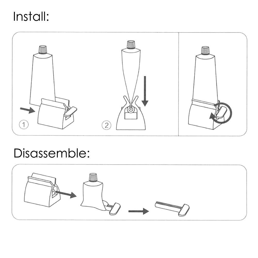 /Portacepillos de dientes 2/en 1/tubo de rodamiento prensa de pasta de dientes accesorios para cuarto de ba/ño/ color blanco