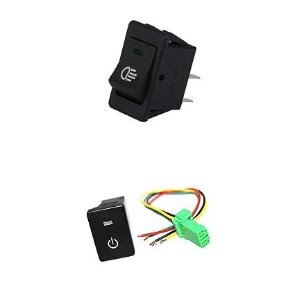 51ADkcK8U5L._SX425_ amazon com homyl 12v universal fog light switch led button 12v push
