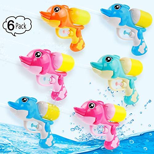 Super Water Squirt Pistol Gun Pocket Size for Kids Adults ,Hot Summer Water Blaster Toys 2019 New (6 Pack) (Best Small Pistol 2019)