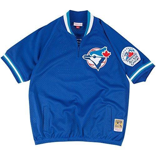 Roberto Alomar Toronto Blue Jays #12 Men's 1/4 Zip Mesh Batting Practice Jersey (X-Large)