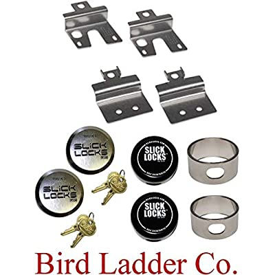 Image of Anti-Theft Slick Lock GM-FVK-1-TK Chevy GMC Swing Door Kit Complete with Spinners, Weather Covers and Locks