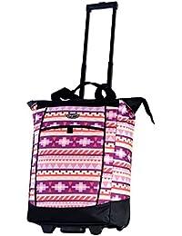 Fashion Rolling Shopper Tote - Tribal, 2300 cu. in.