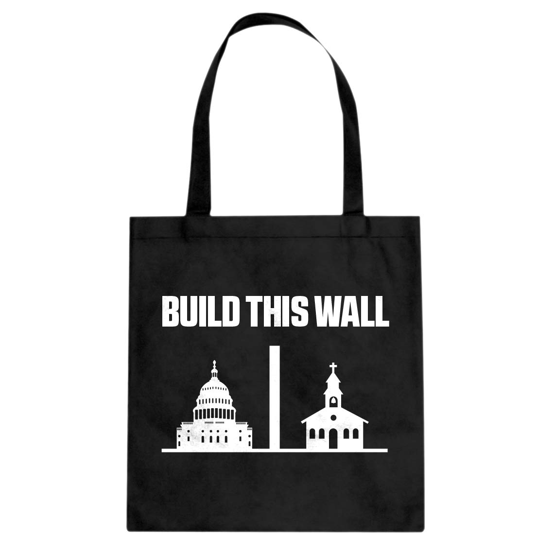 Indica Plateau Build This Wall Cotton Canvas Tote Bag