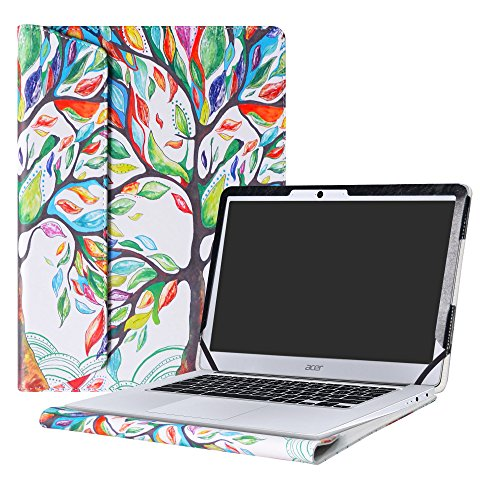 Alapmk Protective Case Cover For 14 Acer Chromebook 14 CB3-431 Series Laptop(Not fit ACER CHROMEBOOK 14 FOR WORK CP5-471 Series),Love Tree
