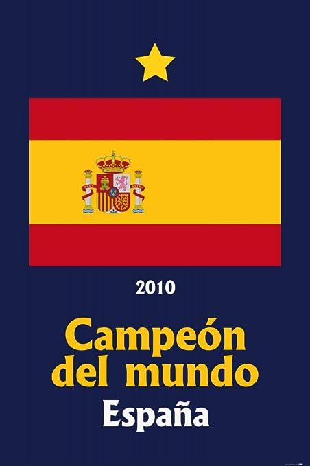 1art1 Fútbol - España Campeon del Mundo 2010 Póster (120 x 80cm): Amazon.es: Hogar