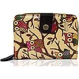 KukuBird Designer Owl Pattern Medium Purse Wallet