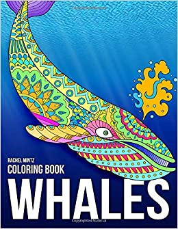 Whales Coloring Book Magnificent Blue Whales In Relaxing Anti