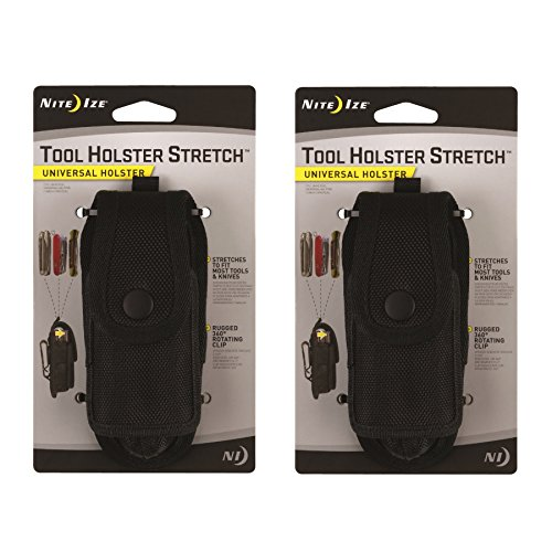 Nite Ize Tool Holster Stretch Universal Multi-Tool/Flashlight Holder Clip 2-Pack by Nite Ize