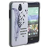 HTC Desire 610 Case, Harryshell(TM) Slim Feather Pattern Scratch-Resistant Tpu Gel Silicone Soft Protective Skin Case Cover for HTC Desire 610 (Feather)