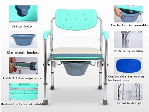 Luckyyan Foldable Aluminum Alloy Wheelchair With Faeces