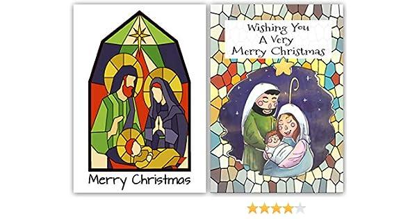 Pack de 10 tarjetas de Navidad religiosa contemporánea. Mosaico ...