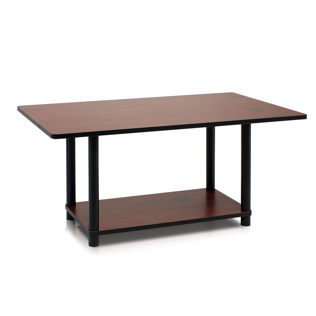 Furinno Turn-N-Tube Coffee Table, Dark Cherry/Black by Furinno