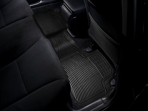 Universal Fit,All-Weather Rubber Material Zone Tech Black Color Car Vehicle Floor Mat