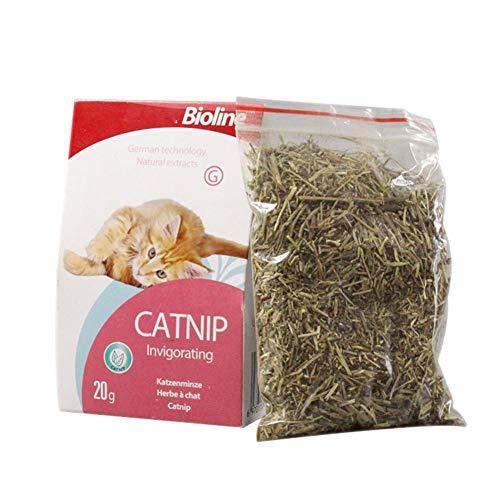 Leegoal Catnip Leaves Pure Natural Catnip Fresh Breath Go to Hair Balls North- American Planted Catnip Grass.
