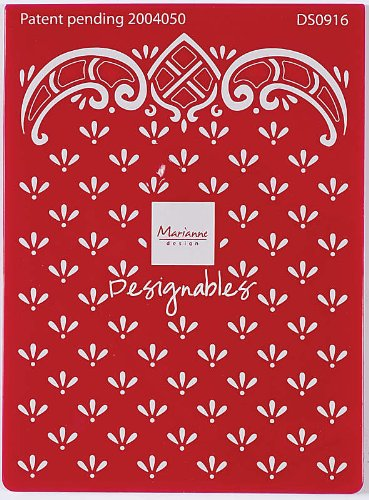 Marianne Design Designable Embossing/Cutting Folder, Anja's Dots by Marianne Design