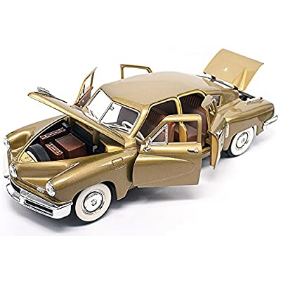 Road Signature 1948 Tucker Torpedo, Gold 92268 -  1/18 Scale Diecast Model Toy Car: Toys & Games