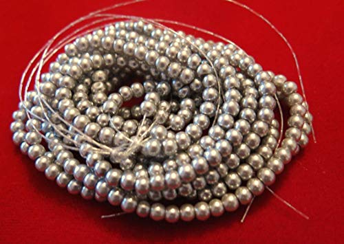 Charm Grey Pearl - Lot of 200pc Grey Imitation Pearl Spacer Bead String Jewerly Making Charms Supplies DIY for Necklace Bracelet and Crafting by CharmingSS