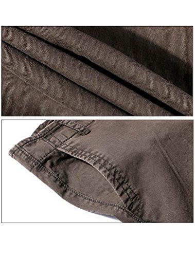 Brun Robo Cargo Pantalon Casual Sport Homme Confortable Slim Pants Multipoches Militaire Vintage ggrnPwqxa