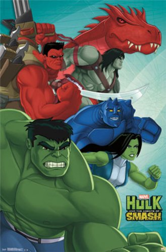 The Hulk And The Agents Of Smash 22x34 Poster Marvel Comics Art Print