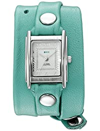 La Mer Collections Women's 'La Mer Collections Women's Mint Silver Triple Wrap Watch' Quartz Silver-Toned Leather Casual Watch (Model: LMSTWGMA14005)