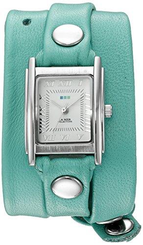 (La Mer Collections Women's 'La Mer Collections Women's Mint Silver Triple Wrap Watch' Quartz Silver-Toned Leather Casual Watch (Model: LMSTWGMA14005))