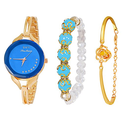 Daimon+Women%27s+Wrist+Watches+with+Rose+Gold+Band+3+Sets+Match+Any+Outfits
