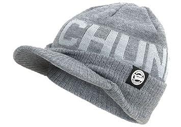 ba154c1c2e3 Fox Chunk Peacked Beanie hat Grey  Amazon.co.uk  Sports   Outdoors