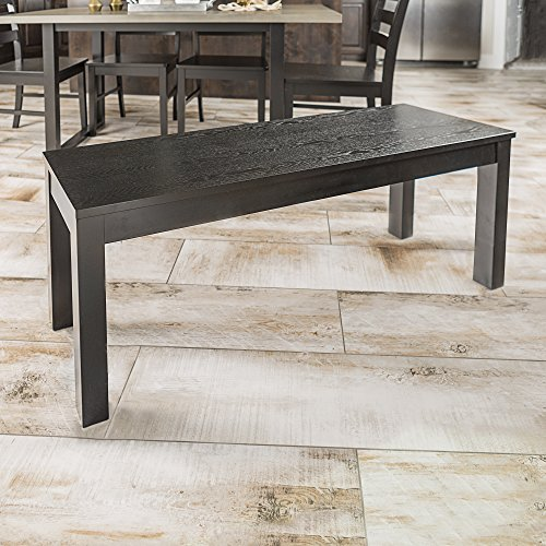 New 4 Foot Long Homestead Simple Dining Bench - Black Finish