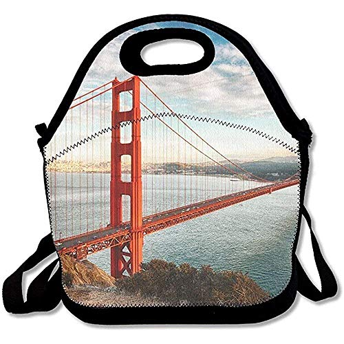 Famous Golden Gate Bridge San Francisco At Night Usa Best Lunch Tote Lunch Bag Office Reusable