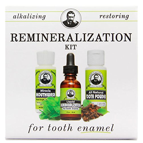 Uncle Harry's Natural Remineralization Kit for Tooth Enamel & Mineral - 3 Products Strengthen Weak Enamel & Correct Oral Care Issues (1 kit)