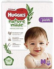 HUGGIES Platinum Naturemade Pants, M, 58 Pieces