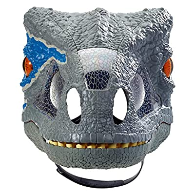 New Jurassic World Blue Chomp 'N Roar Mask Open Jaw Slowly and It Growls and Then Hisses New in Unopened Packaging: Toys & Games