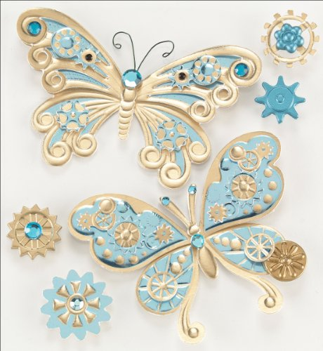Jolee's Boutique Steampunk Butterflies Dimensional Stickers