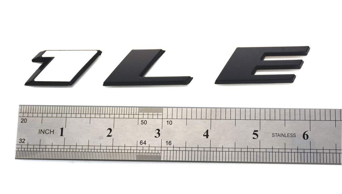 Black 2pcs 1LE Emblem Badge Letter Rear Side Replacement for Camaro 1LE Door Genuine