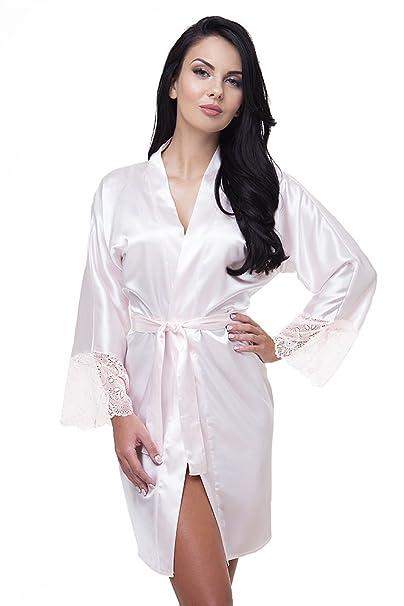 VA-Fashion - Bata - para Mujer Zartrosa Ohne Aufdruck M: Amazon.es: Ropa y accesorios