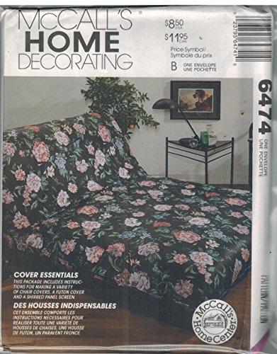 VARIETY OF CHAIR COVERS & SHIRRED PANEL SCREEN - MCCALLS HOME DECORATING PATTEN 6474 ()