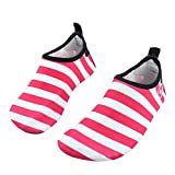 SENFI Boys Girls Water Shoes Mutifunctional Barefoot Quick Dry Aqua Shoes for Beach Pool Eercise (Toddler/Little Kid/Big Kid),NS02,t.Pink,34.35