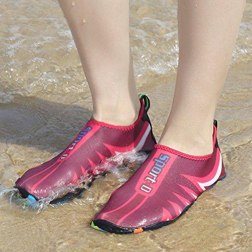 Coolloog Männer Frauen Barfuß Quick Dry Wasser Schuhe Leicht Atmungsaktiv Für Walking Swim Beach Yoga Ananas-Rose