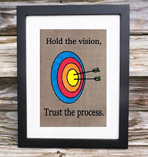 Amazon.com: Hold the vision, Trust the process Burlap ...
