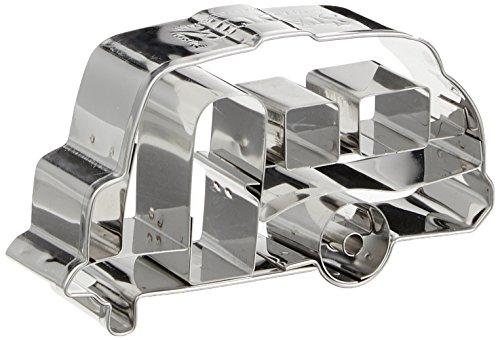 Städter Wohnwagen 8 cm, Edelstahl, Silber, 8 x 4 x 1 cm