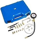 T1A 0-140 PSI (0-10 bar) 22 Piece Fuel Injection Pump Tester - Test Pressure Gauge for Gasoline Vehicles