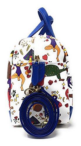 piero guidi Borsa a bauletto con tracolla 216734038 BIANCO 31 x 16 x 22 cm