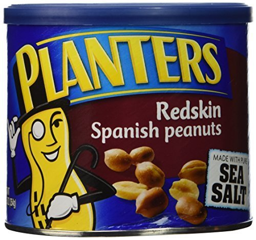 Planters Redskin Spanish Peanuts Sea Salt, 12.5 OZ (Pack of 18) by USA