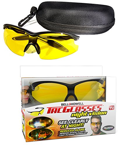 TAC GLASSES by Bell+Howell Sports Polarized Sunglasses for Men/Women, Military-Inspired As Seen On TV (Yellow)