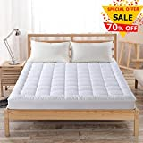 Hypoallergenic Quilted Mattress Pad Cover with 300TC 100% Cotton...