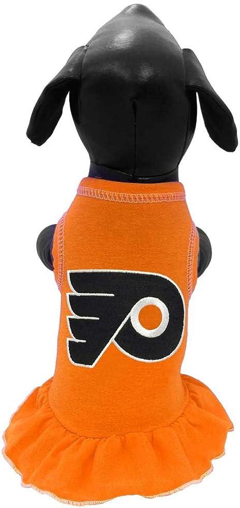 NHL Philadelphia Flyers Dog Cheerleader Dress Orange XX-Small